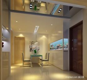 两室一厅简装餐厅效果图