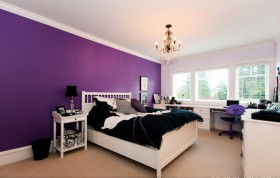 欧式紫色卧室装修