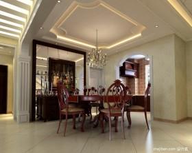 欧式别墅餐厅吊顶装修效果图