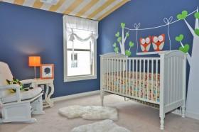 婴儿儿童房背景墙设计图片