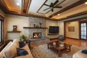 美式风格家庭装修客厅背景墙