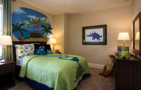 儿童卧室墙绘装修效果图
