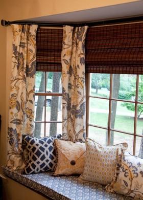 飘窗窗帘新款图片