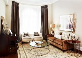 现代风格两室两厅客厅窗帘效果图