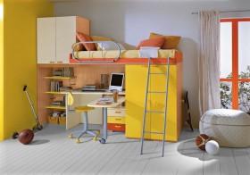 儿童书桌一体化装修效果图