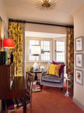 暖色客厅窗帘