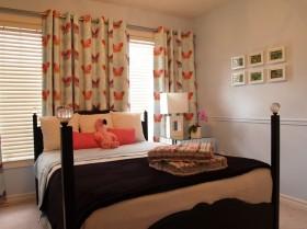美式卧室窗帘装修图片