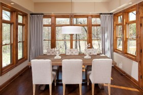 四室餐厅窗帘装修图