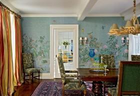 四室一厅餐厅背景墙装修效果图欣赏
