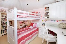 儿童卧室高低床装修效果图