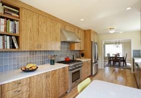 美式开放式厨房橱柜装修效果图大全