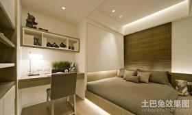 现代简约卧室书房装修效果图