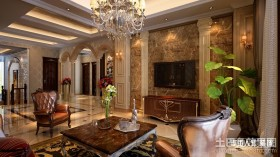 欧式别墅客厅电视背景墙装修效果图大全
