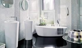 现代卫生间浴缸装修图片