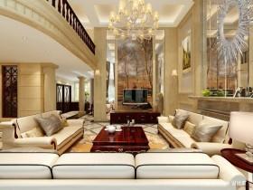 欧式别墅客厅背景墙装修效果图大全2013图片