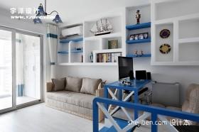 地中海书房装修效果图欣赏
