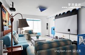 地中海小客厅家庭影院装修效果图大全2013图片