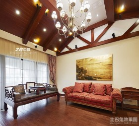 新中式客厅装修效果图欣赏