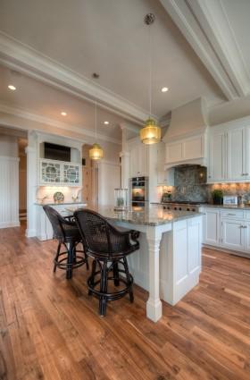 欧式厨房吧台装修设计效果图