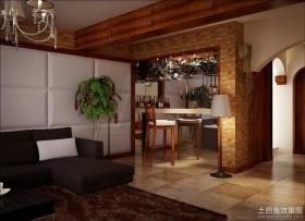 田园客厅休闲区吧台装修设计