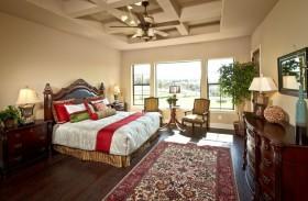美式卧室吊顶装修效果图