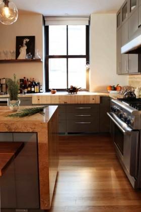 美式风格整体小厨房装修效果图