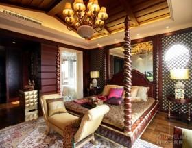 东南亚风格装修卧室图片