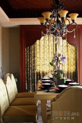 东南亚风格餐厅窗帘图片