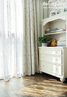 田园风格窗帘欧式田园风格窗帘装修图片