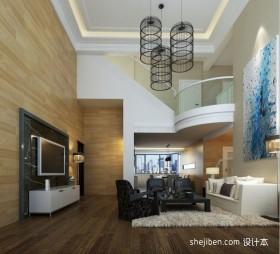 别墅跃层客厅吊顶装修效果图