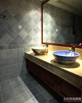 中式卫生间装修效果图2013