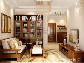 新中式二居客厅装修效果图