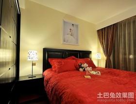 现代简约婚房卧室装修图片