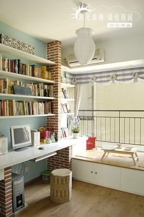 田园风格小书房装修图片