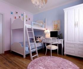 双胞胎儿童房高低床装修效果图欣赏