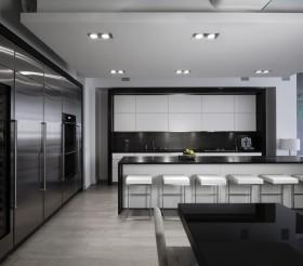 现代开放式厨房装修图片