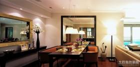 新中式客厅餐厅一体装修
