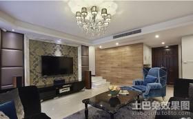 三居客厅装修效果图现代