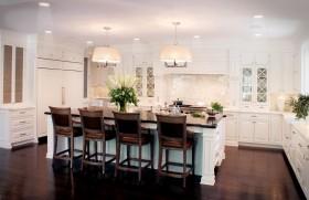 欧式开放式厨房吧台装修设计图片欣赏