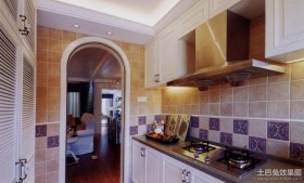 三居室厨房地中海风格装修效果图
