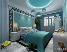 卧室吊顶效果图 卧室软包背景墙