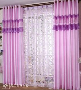 家装紫色客厅窗帘装修效果图