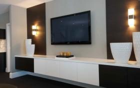 现代简约电视墙效果图