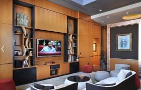组合电视柜背景墙装修效果图