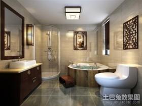 新中式四居卫生间装修设计效果图