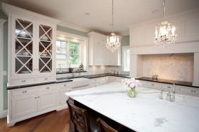 欧式三居开放式厨房装修效果图