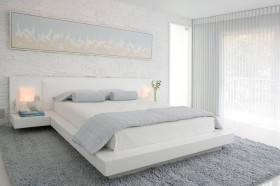 简约卧室榻榻米床装修效果图