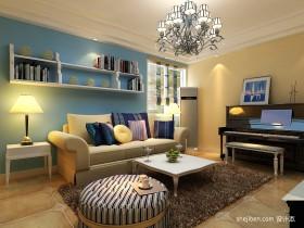 地中海风格小户型客厅装修效果图