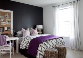 简约小户型卧室装修效果图 卧室窗帘图片