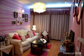 40平米小客厅窗帘效果图